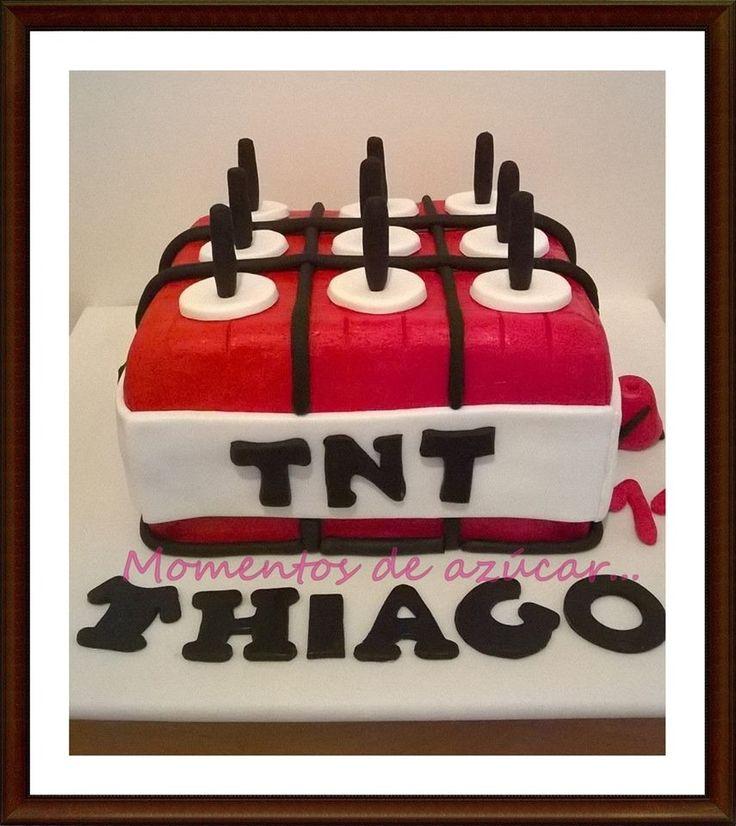 Torta Minecraft TNT