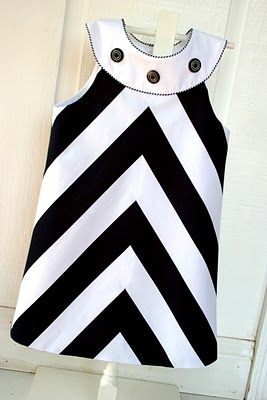 "I LOVE this dress! Pattern is ""Jacqueline"" by Childrens Corner. The stripe is by Michael Miller and the white twill collar is by Fabric Finders."