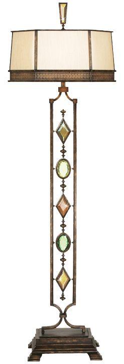 Fine Art Lamps 707720-1 Encased Gems 1LT 150 watt Bronze Floor Lamp