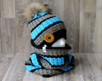 Ensemble Esquimau tuque et snood tricoté à la par LesCreationsMAF