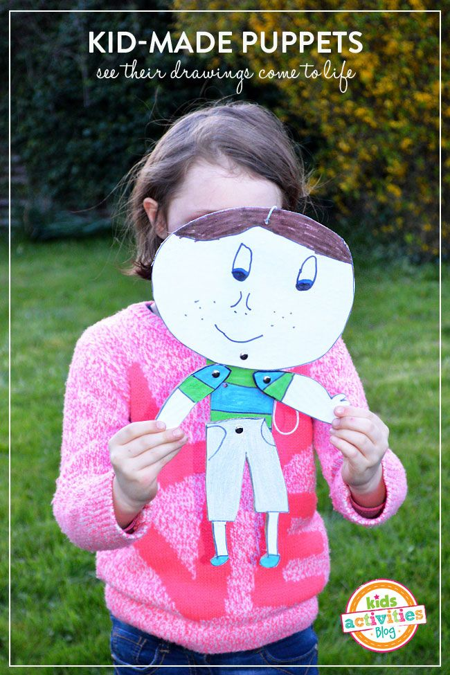Adorable Kid Made Puppets - see their drawings come to life | MollyMooCrafts.com