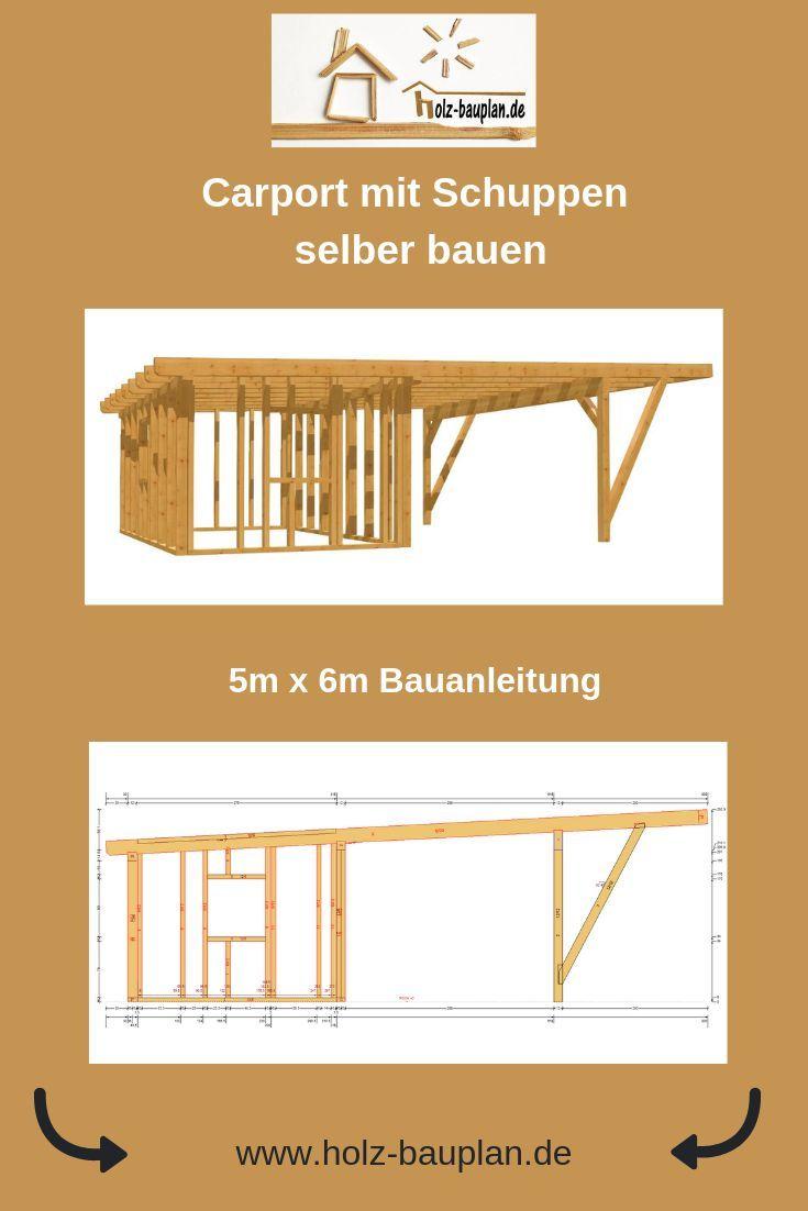 Carport Mit Gerateschuppen Bauen Carport Planer Carport Bauplan
