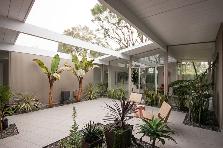 91 best images about eichler atrium ideas on pinterest for House plans with atrium in center