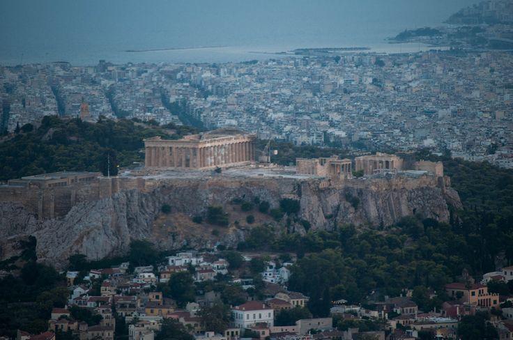 Acropoli dal Licabetto e vista fino al Pireo