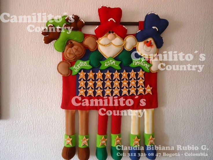 Resultado de imagen para adornos navideños calendario