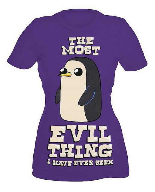Adventure Time Gunter Girls T-Shirt by Fred Seibert