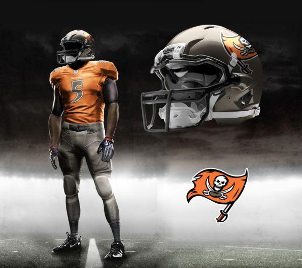 Tampa Bay Bucs Nike NFL Pro Combat Uniform                                                                                                                                                      Más