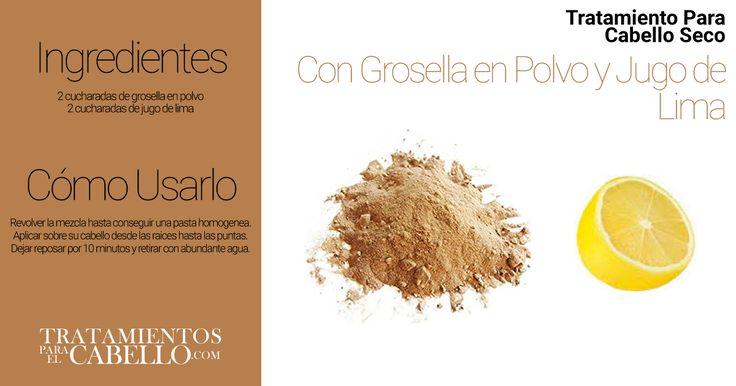 Remedio Casero con Grosella en Polvo y Jugo de Lima | Los Mejores 20 Tratamientos Caseros Para El Cabello Seco