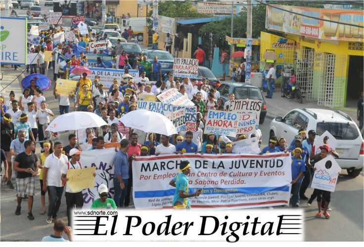 Vídeo y fotos: Jóvenes de Sábana Pérdida marcharon la tarde de este jueves en demanda de empleos y mayor atención