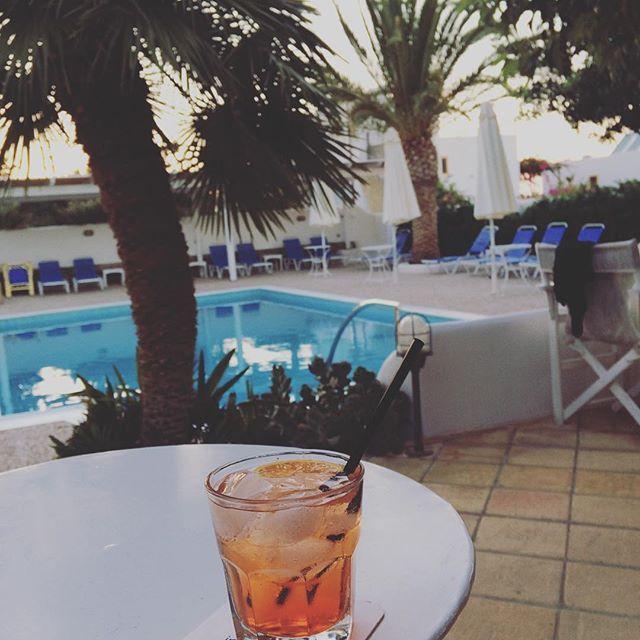 Drink up!  . . #villaippocampi #ippocampi #hotel #hotels #boutiquehotel #smallhotel #greekhotel #exclusivehotel #greece #crete #summer #travel #traveling #spritz #aperol #aperolspritz #drink #cocktail