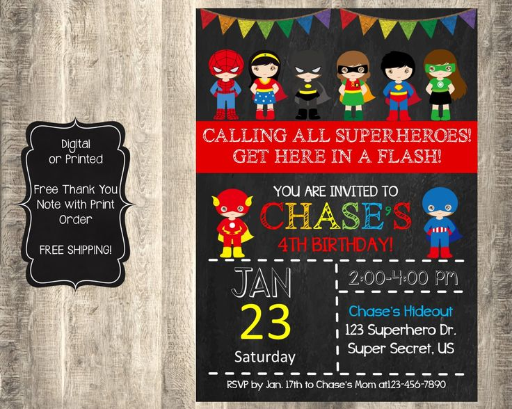 11 best superhero invitation images on pinterest superhero superhero invitation superheroes invitation superhero birthday superheroes stopboris Image collections