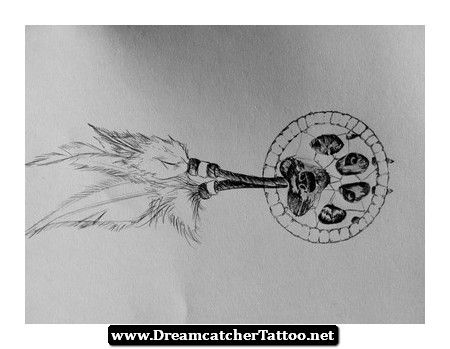 Indian Wolf Dreamcatcher Tattoo 18 - http://dreamcatchertattoo.net/indian-wolf-dreamcatcher-tattoo-18/