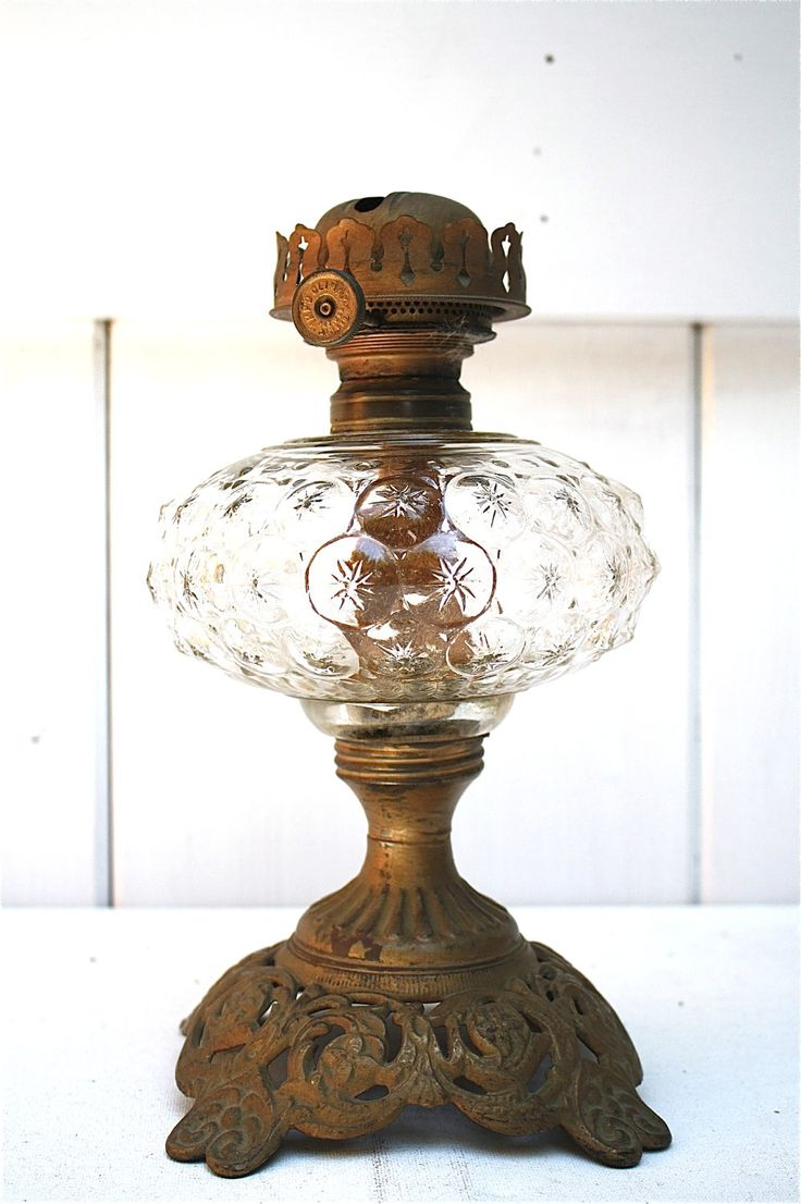 Old Kerosene Lanterns For Sale | Sale Antique Oil Lamp Hand Blown Glass Circa by ObjectsbyEchoes