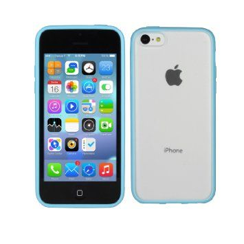TeckNet New Apple iPhone 5C Bumper Case for Apple New iPhone 5 C, Shock Absorption Bumper + Anti Scratch Clear Back and Apple iPhone 5c Screen Protectors - Blue