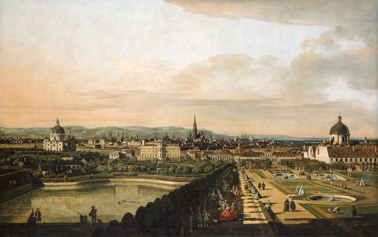 Vienna Viewed from the Belvedere PalaceBernardo Bellotto, called Canaletto (Italian, 1722-1780) Oil on canvas, 2130 x 1350cm, 1759-176...