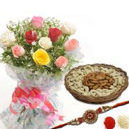 Mix Roses and Rakhi to Jaipur