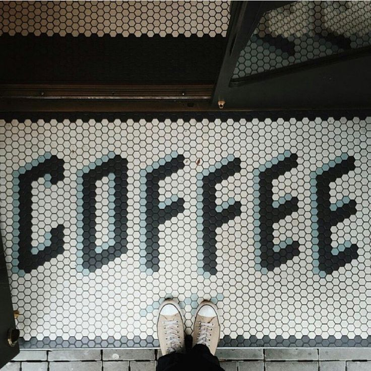 This, I love! Mosaic #lettering at #sightglasscoffee in SF. Taken by @mihailonaca via @canva  #coffee #typography