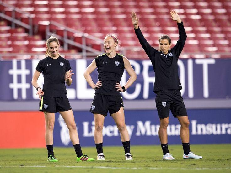 Moe Brian, Becky Sauerbrunn, Tobin Heath - 2016 SheBelieves Cup in Tampa (U.S. Soccer)