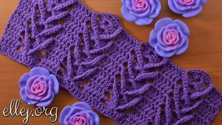 "Узор крючком ""Дельфиниум"". Delphinium crochet stitch"