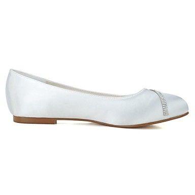 Dames Bruiloft Schoenen Ronde neus Platte schoenen Huwelijk/Feesten & Uitgaan Zwart/Blauw/Roze/Paars/Rood/Ivoor/Wit/Zilver – EUR € 32.57