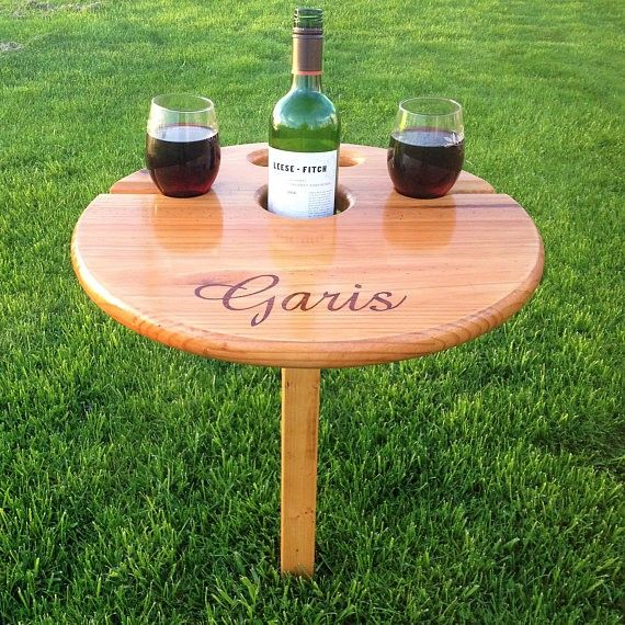 Outdoor Wine Table (folding+portable) Unique gift for wine-lover, wedding gift for the couple, engagement, birthday, camp,beach, anniversary, gift, Christmas gift,  wedding gift,  anniversary gift, wine table, outdoor furniture, outdoor decor, outdoor living,  party, cookout, romantic,  couples gift, last name gift, diy decor, creative gifts #afflink