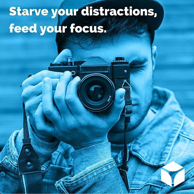 """""""Starve your distractions, feed your focus."""" #quotes #quoteoftheday"""