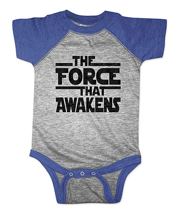 Look at this Heather Royal 'The Force That Awakens' Raglan Bodysuit - Infant on #zulily today!
