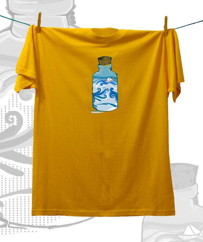 Camiseta ·MXH· Viaje en una botella