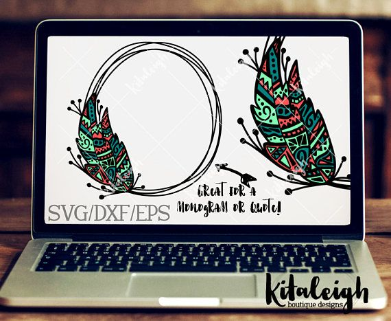 The Feather Floral Wreath files are for use with programs such as Silhouette Studio Software, Cricut Design Space, or other programs that can read .dxf, .eps, and .svg file types.  If you need a different format, please convo me prior to purchase. THIS IS NOT an Embroidery Design and cannot be converted to Embroidery File types.  ZIP FOLDER: The files are contained in a zip folder. They will need to be unzip/extract the files prior to opening/importing the files into your program. P...