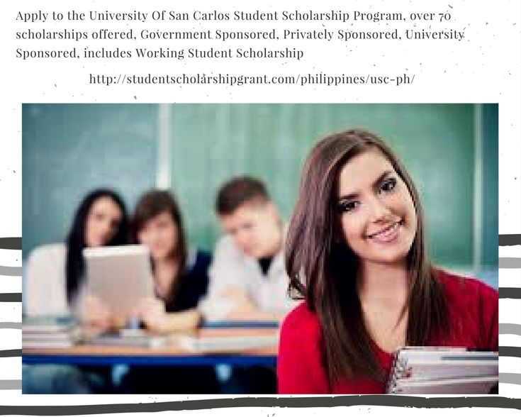 Apply to the University Of San Carlos Student Scholarship Program, over 70 scholarships offered, Government Sponsored, Privately Sponsored, University Sponsored, includes Working Student Scholarship. University grants and scholarship privileges as grants-in-aid to students who excel in their studies, qualify as members of the USC varsity teams and USC performing arts groups, and those who are financially deprived. #PhilippineScholarship #StudentScholarshipGrant Read more