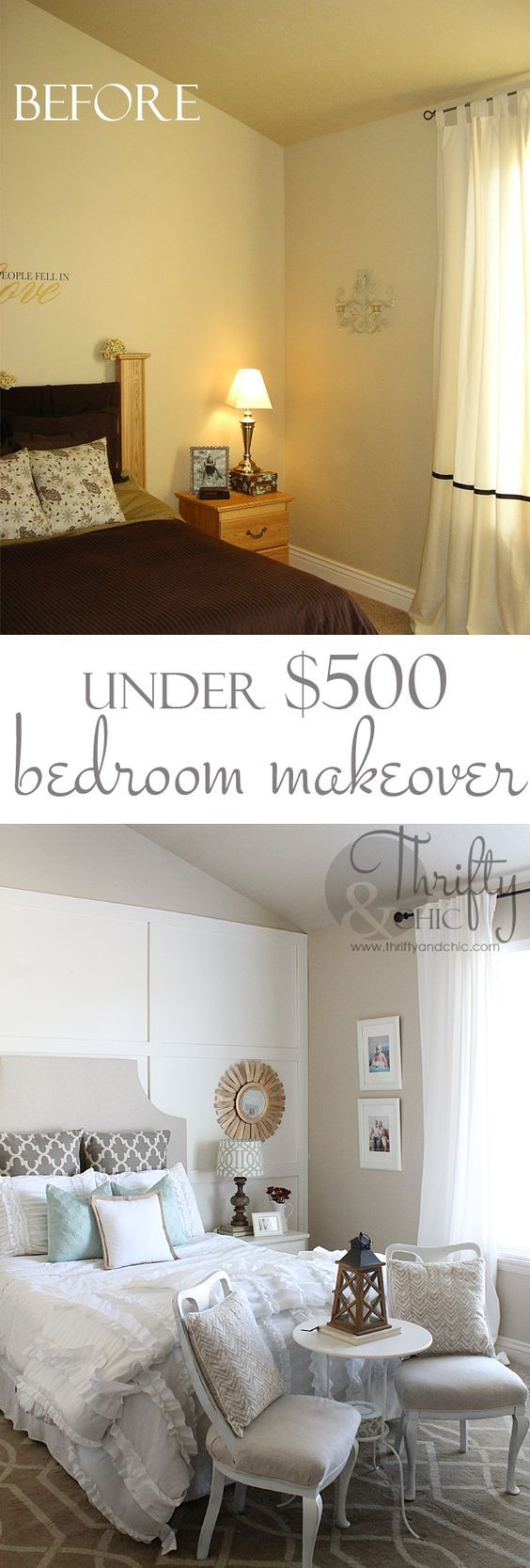Master bedroom makeover for under  500  Great DIY ideas. 17 Best ideas about Master Bedroom Makeover on Pinterest   Master