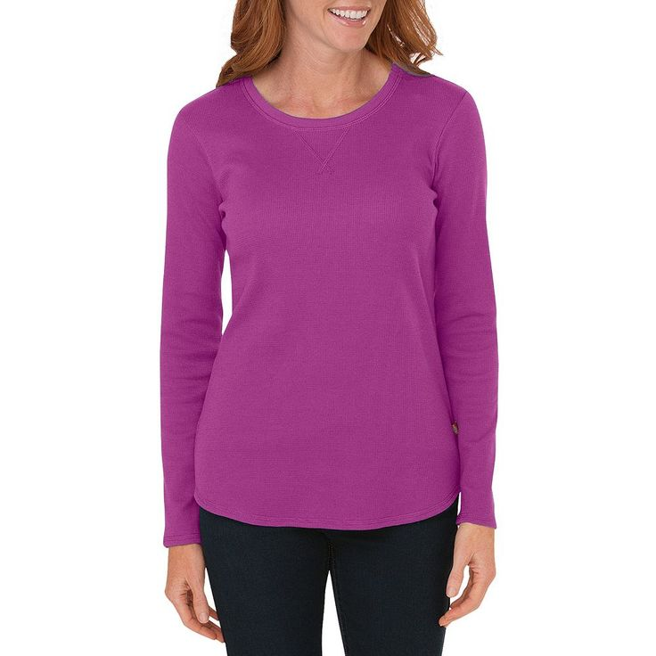 Dickies Thermal Crewneck Tee - Women's, Size: Medium, Purple Oth
