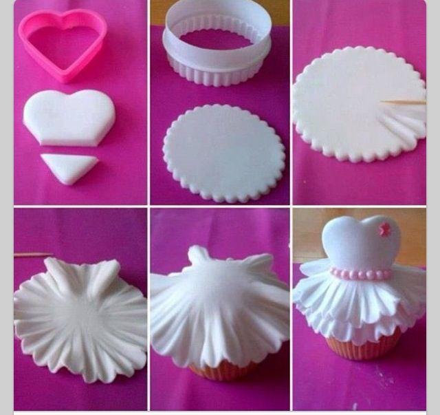Beautiful Ballerina Cupcakes, Quick Recipe