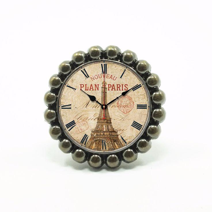 Chic The Eiffel Tower Drawer Knobs Bronze / Crystal Dresser Knobs Cabinet Handles Pull Knob Ornate / Furniture Hardware