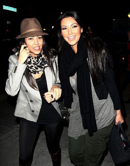 Kim Kardashian and Kourtney Kardashian hit the Big Apple: Kourtney Kardashian, Big Apples, Color, Kardashian Hit, Apples Celebrity, Celebs, Kourtney Outfits, Thankskim Kardashian, Sisters Style