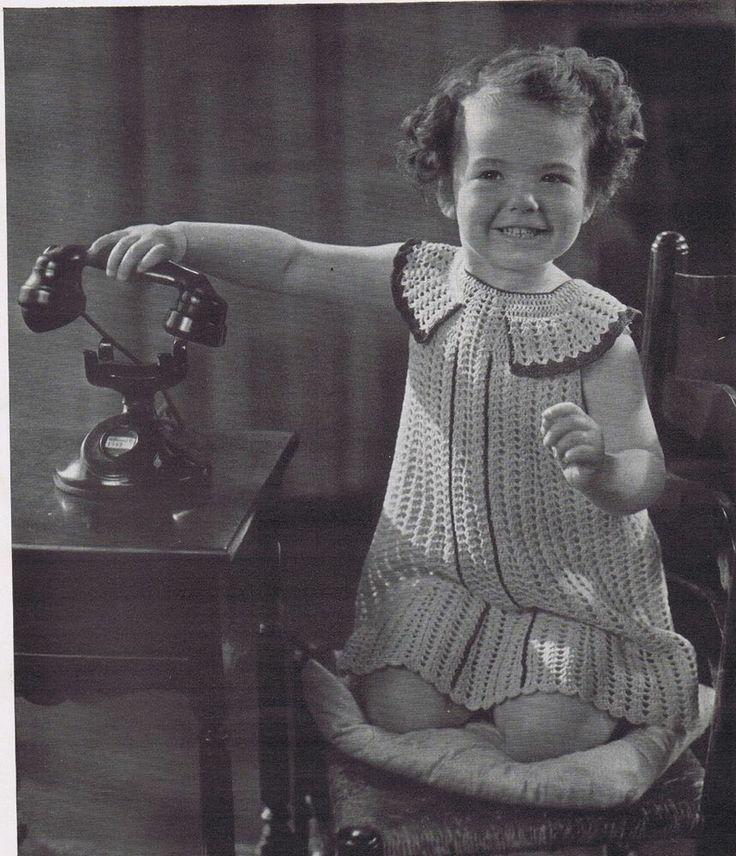 Vintage Crochet Patterns 1930s Girls Boys Dresses Coats Sun Suits Blouse Shirts | eBay - http://bit.ly/1ryJPXi