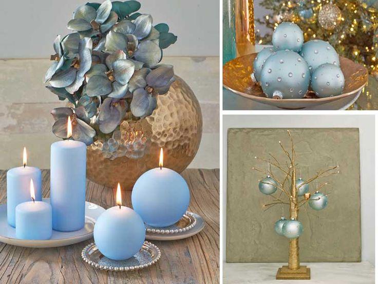 decorazioni natalizie turchese ed oro