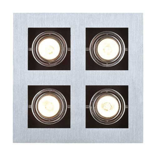 Tufts Brushed Aluminum, Chrome and Black Four-Light LED Spot Light