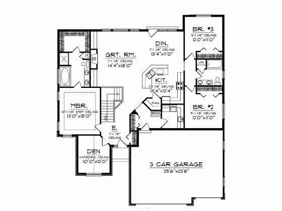 50 best house plans under 1800 sq ft images on pinterest for 1800 50 floor