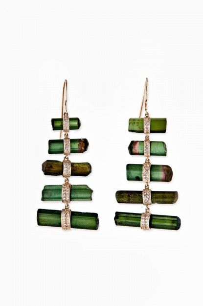 rough tourmaline earrings with what looks like WATERMELON tourmaline which is VERY sought after!!! I LOVE THEM!!!!