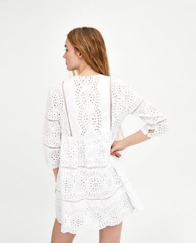 Εικόνα 4 του EMBROIDERED JUMPSUIT DRESS από Zara