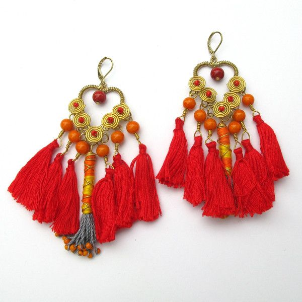 Kantha Collection - Tassel Drops - Cargo