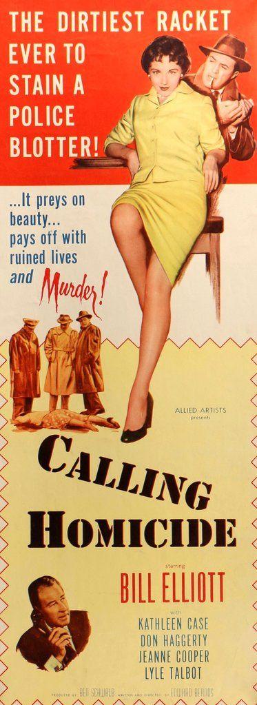 Calling Homicide (1956) Original Insert Movie Poster