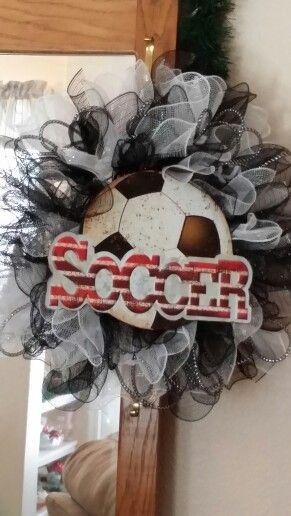 Soccer mesh wreath