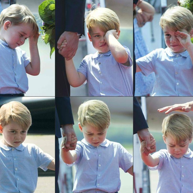 Príncipe George não tem gostado de fazer parte da comitiva real em viagem pela Europa Ocidental