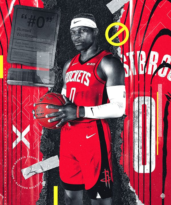 Westbrook x Rockets on Behance Nba basketball art, Nba