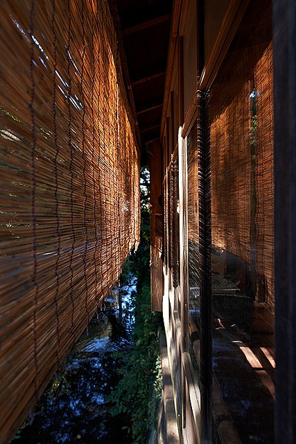 Japanese bamboo screen - Ecologically correct way of blocking the sun light and heat during summer. I practice this in my household in SO-Cal.