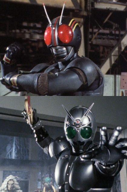 仮面ライダーBLACK&シャドームーンの画像 プリ画像 Black Sun A.K.A. Kamen Rider BLACK & his (evil) brother: Shadow Moon.