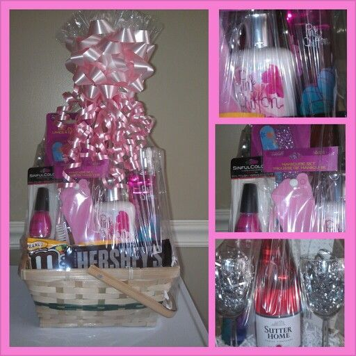 Pink-Wine | DIY Mothers Day Gift Basket Ideas | DIY Christmas Gift Ideas for Family Mom