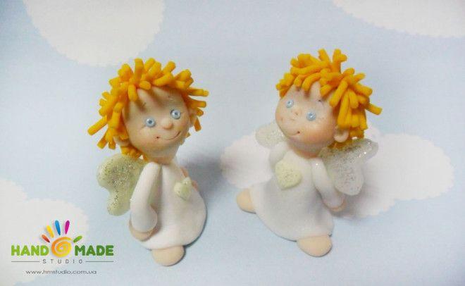 Photo tutorial for polymer angels:    Рождественский ангел из полимерной глины
